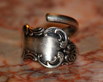 Vintage Silverplate Spoon Ring Size 9