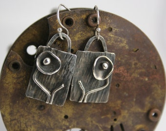 Sterling Silver Earrings - Handmade - Statement