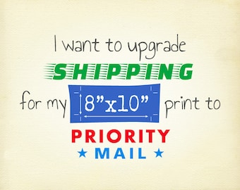 "Upgrade to USPS Priority Mail Shipping for 8""x10"" Print(s)"