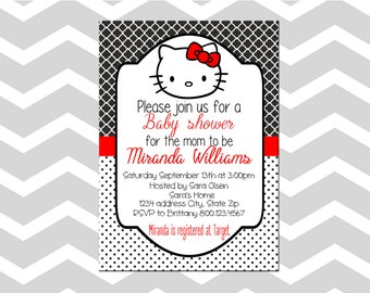 Hello Kitty Baby Shower Invitation/Card