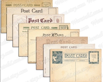 Blank Postcards Digital Collage Sheet Printable Postcard Tags Old Postcards Vintage Postcards Collage Sheet Notecards Wedding Tags