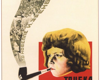 Сonstructivism / Poster «The Communard's pipe» 1929 #36916 retro poster, prints for sale, best posters