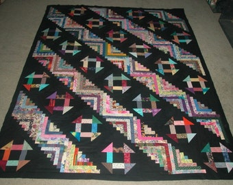 Log Cabins Go Modern Quilt Pattern