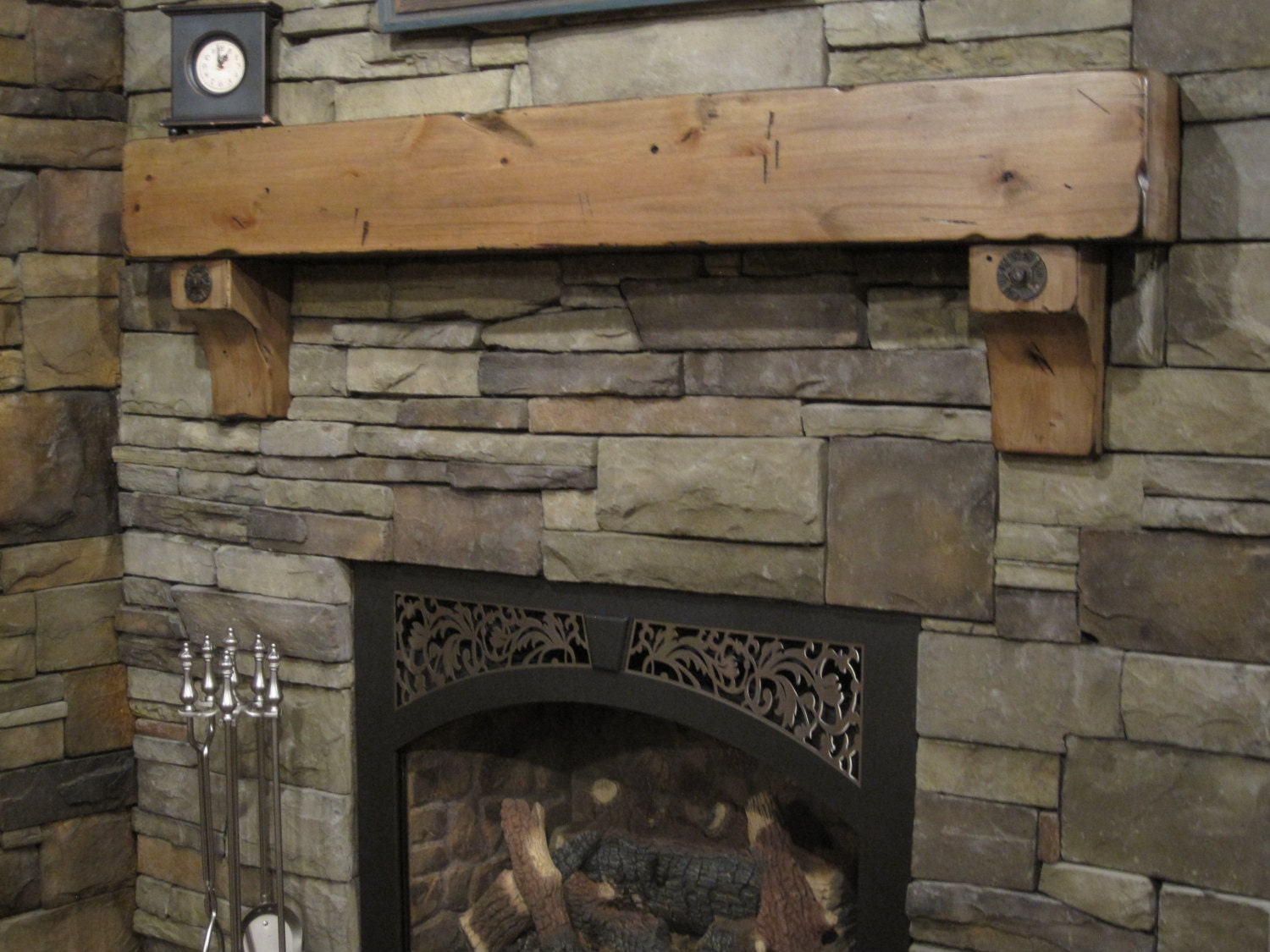 8 X 8 Knotty Alder Beam Shelf Corbels Distressed