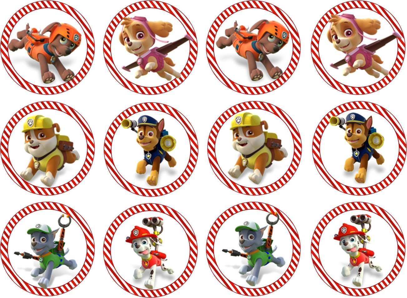 Paw Patrol Printable Cupcake Toppers By LeilaBugs On Etsy