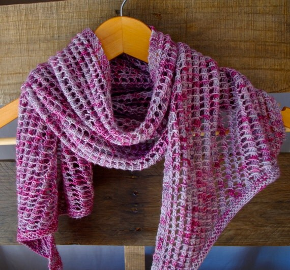 Open Knit Scarf Pattern : Items similar to Open weave scarf / lace / knit / handmade on Etsy