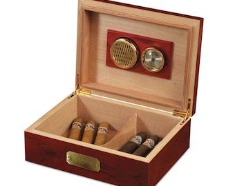 Cherry Wood Cigar Humidor(e186-1112) - Free Personalization