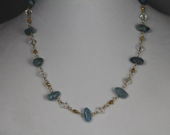 Aquamarine and Swarovski crystals take 25% off!