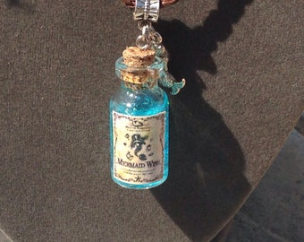 Mermaid wish potion bottle charm