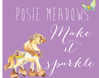 Make it Sparkle! - Add glitter and rhinestones to any Print or Card