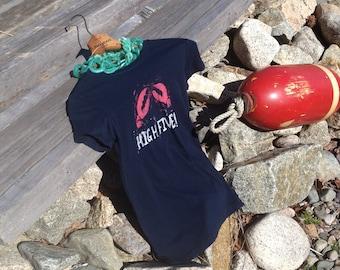 Block Print Lobster T Shirt
