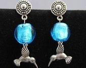 Charming hummingbird earrings