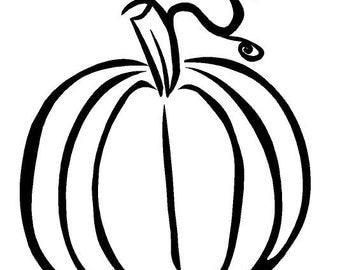 Fall Pumpkin Decal