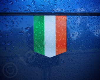 "Flag of Ireland sticker -  1 3/8"" x 1 3/4"" - Vinyl Decal Car Irish Emblem Badge"