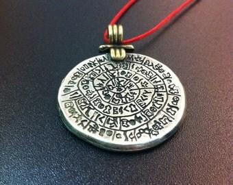 Phaistos Disc-Sterling Silver pendant-handmade