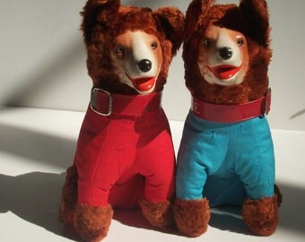 2 Vintage Lassie Dogs to collect Signitures! / Already done / Instant friends!