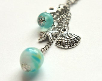 In the sea (handmade lampwork necklace)