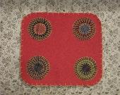Fall Reign Penny Rug Candle Mat, FAAP, OFG, HAFAIR