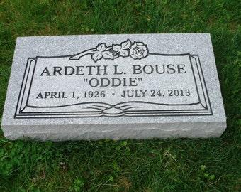 "Cemetery headstone ""grass or flat"" granite marker"