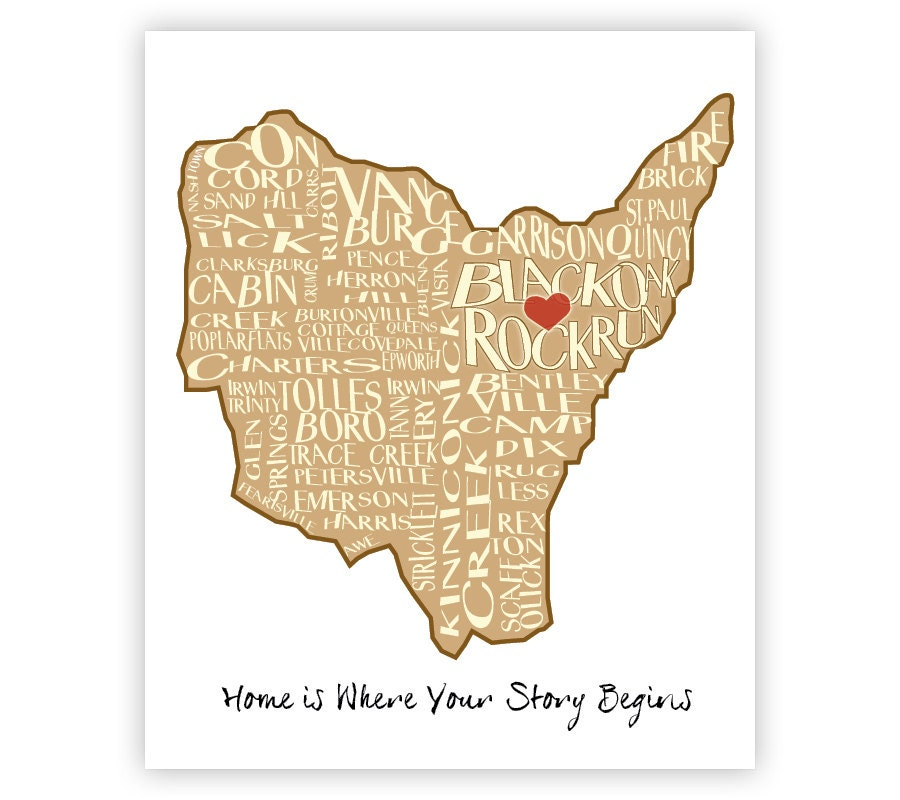 Wall Art Lewis County Kentucky Map City Map By Beargirldesign