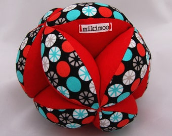Custom Baby Grab Ball (soft puzzle Amish ball) perfect unique baby present. Custom design- choose colours/pattern fabric