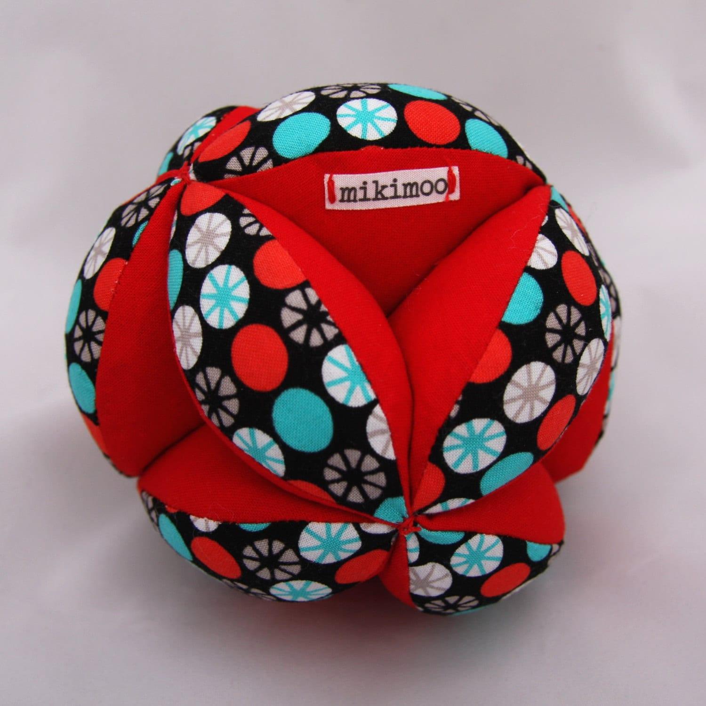 Squishy Baby Ball : Custom Baby Grab Ball soft puzzle Amish ball perfect unique