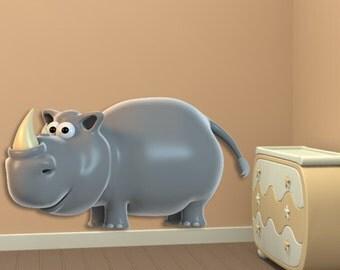 Wall decals rhinoceros A015 - Stickers rhinoceros A015