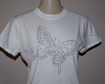 Rhinestone Butterfly T-Shirt