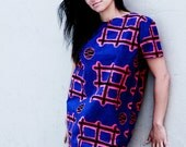 Blue Ankara Tunic Dress