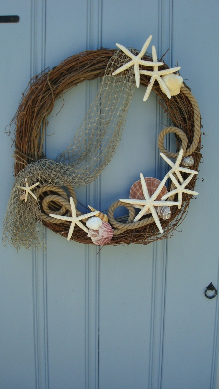 Seashell Wreath Nautical Wreath Beach Wreath