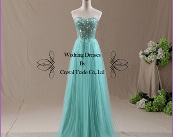 2014 New A Line Strapless Sweetheart Long Chiffon Prom