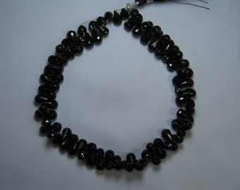 Black Spinel Drops Briolette Beads