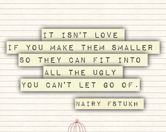 Isn't love - Nairy Fstukh - Poetry Art - Poetry Print