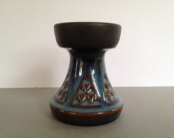 Soholm Danmark Studio Pottery Candleholder / vase    Designer :  Einar Johansen  from the 1960s.