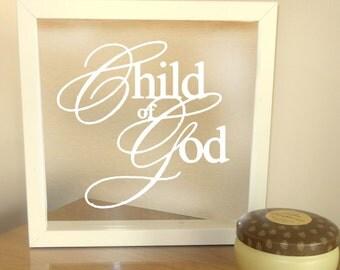 Child of God Frame - Clear Glass