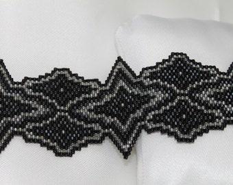Gothic bracelet Handmade handmade Gothic Peyote Bracelet