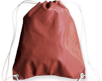 Football Drawstring Bag - authentic football leather