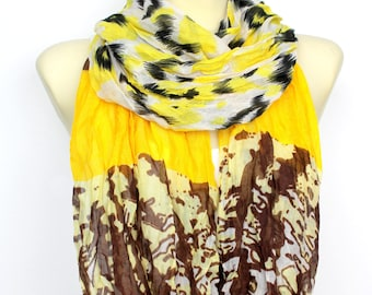 Women Accessories - Fashion Scarf - Gift Ideas for Her - Leopard Print Scarf - Spring Celebrations - Animal Print Scarf - Womens Clothing