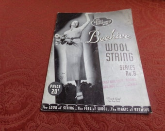 Vintage   Beehive Wool String    Series  No. 8    1940's   Collectible
