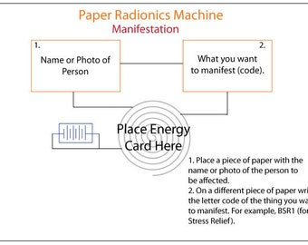 Manifest Easily With the Manifestation Paper Radionics Machine