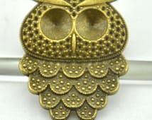 36x50mm---4pcs Antique Bronze Charm Pendant Owls,DIY Accessory Jewelry Making ---G786