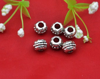 Spacer Charms -20pcs Antique silver Spacer Bead Charm Pendants  --10mm--Q0098