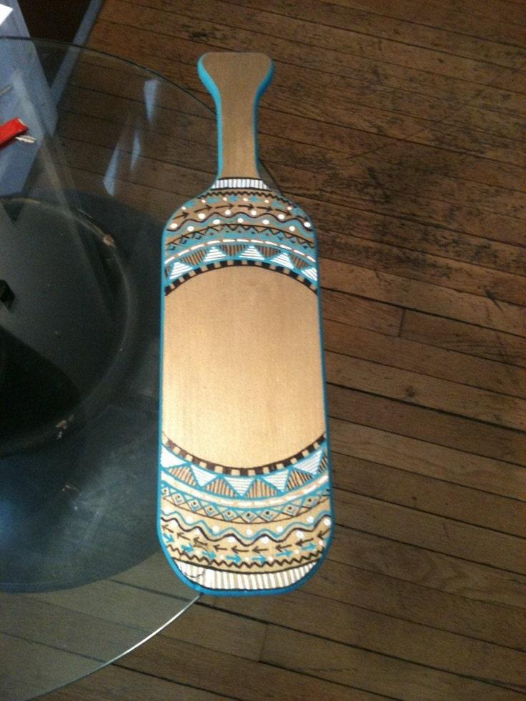 aztec sorority paddle by getitgreek on etsy