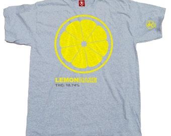Lemon Haze Cannabis Tshirt (Grey) From Dibbs