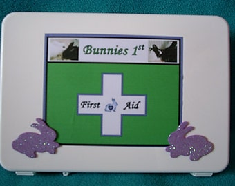First Aid Kit for Bunnies w/Green Stethoscope Large