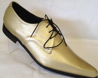 Gibson  Winklepicker Shoe in Gold Leather