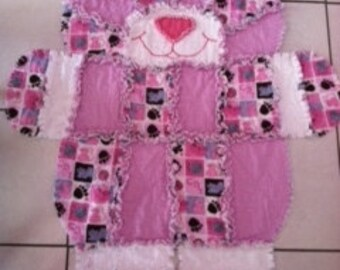 Cat Rag Quilt - here kitty kitty kitty
