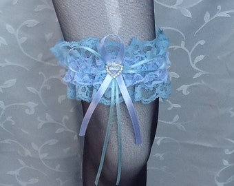 Garter blue lace with Stassherz no. 7