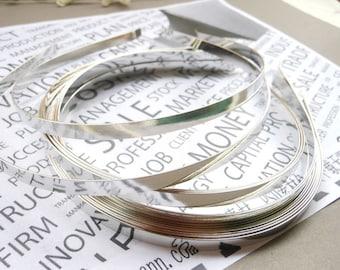 20pcs Metal Headbands 7mm silver color with bent end