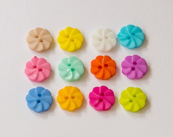 Tiny fancy flower buttons